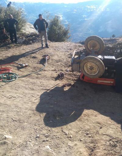 Kullandığı traktörün altında kalan 16 yaşındaki Ahmet öldü