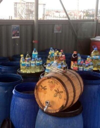 Tekirdağ'da 3 ton sahte içki ele geçirildi