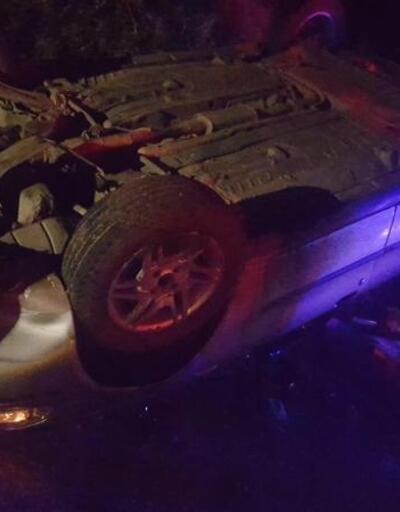 Kontrolden çıkan araç şarampole devrildi: 2 yaralı