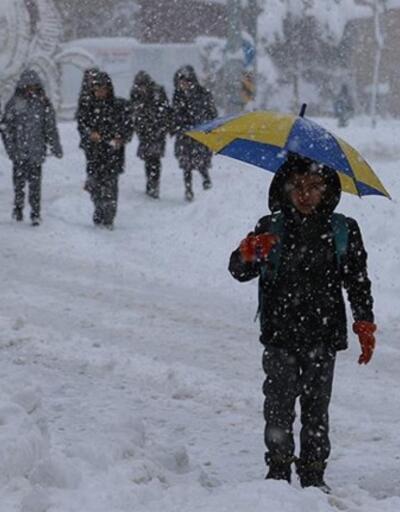 Son dakika... 8 ilde eğitime kar engeli