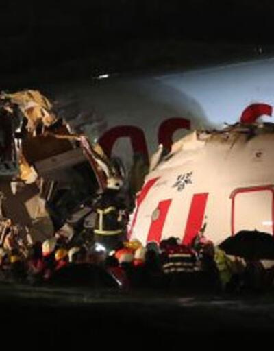 Pistten çıkan uçaktaki yaralılar hastaneye götürüldü