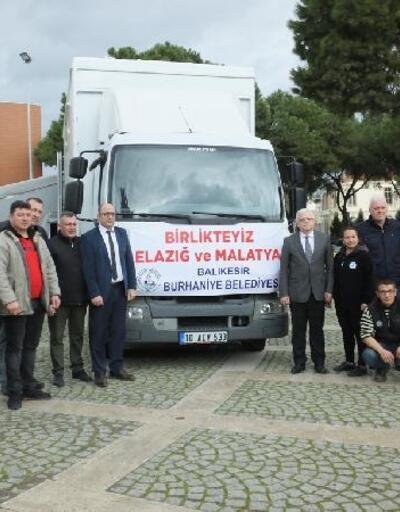 Burhaniye'den Malatya'ya deprem yardımları yola çıktı