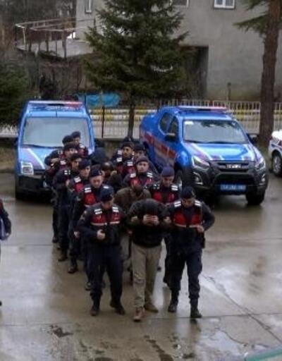 Bolu'da, kaçak kazı yapan 6 şüpheli adliyede
