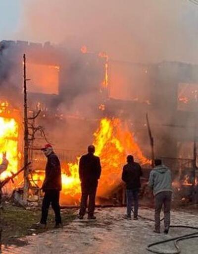 Ahşap evde çıkan yangında bir kişi öldü