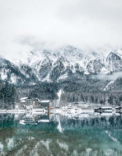 Bavyera'da bir kış masalı; Eibsee Gölü