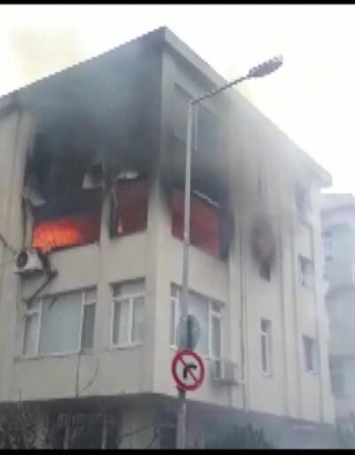 Yangın paniği kamerada