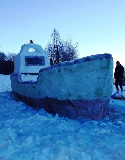 Kardan gemi yaptılar