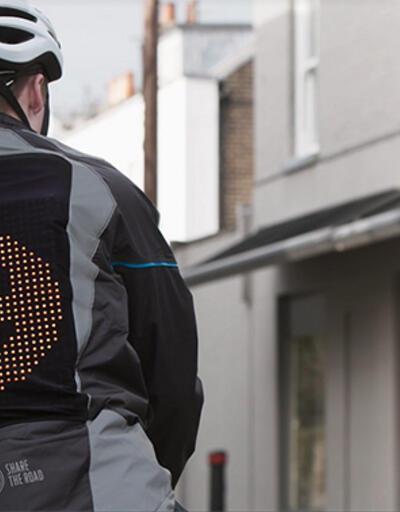 Emoji ceketi bisikletlilere güvenlik sağlıyor