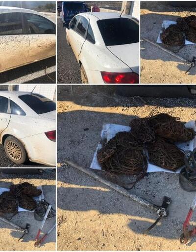 Su kuyularından kablo çalan 2 kişi tutuklandı