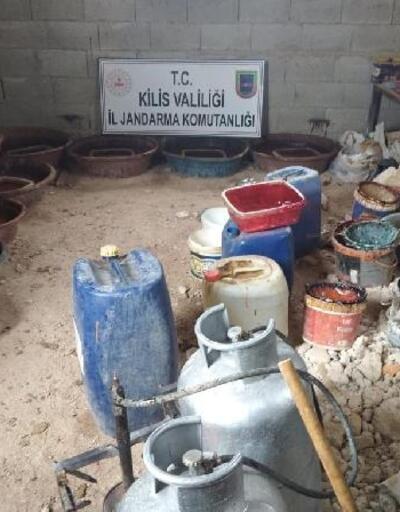 Kilis'te jandarma'dan kaçak kehribar taşı üretimine baskın