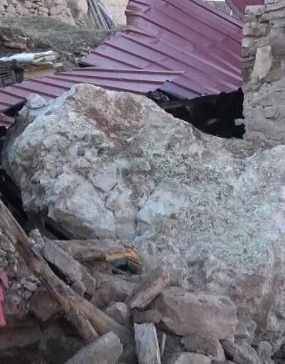 Dev kaya müştemilata düştü
