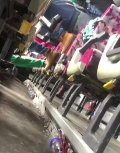 Bursaspor otobüsü Erzurum'da devrildi: 2 hafif yaralı