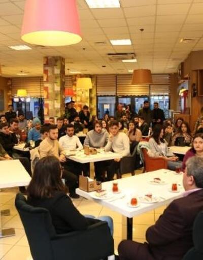 Başkan Dinçer, öğrencilerle bir araya geldi