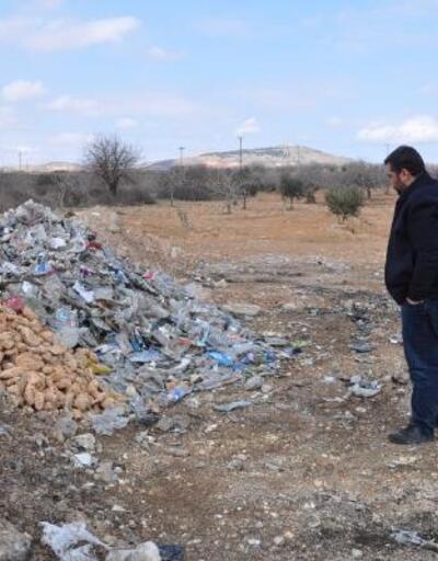 Fıstık tarlasındaki atık yığınına tepki
