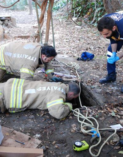 Kadıköy'de su kuyusuna düşen vatandaş kurtarıldı