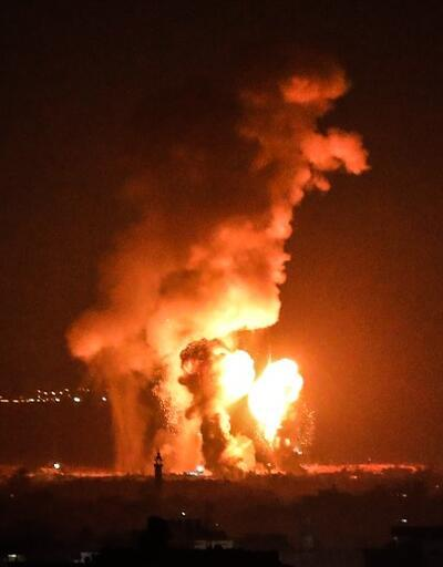 İsrail'den Gazze'de farklı noktalara hava saldırısı