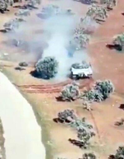 Rejim tankı ile muhaliflerin kovalamacası kamerada
