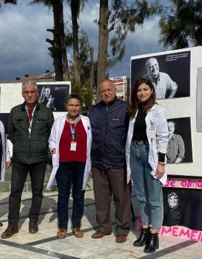 Ayvalık'ta kansere karşı farkındalık sergisi