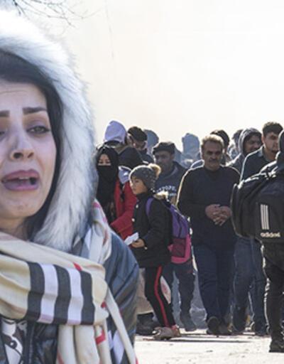 Yunanistan sınırında göçmenlere gaz bombası