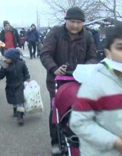 Göçmenlere gaz bombalı müdahale