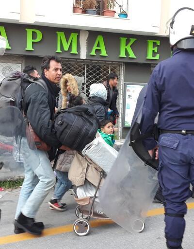 Gergin bekleyiş sürüyor! Yunan polisi müdahale etti