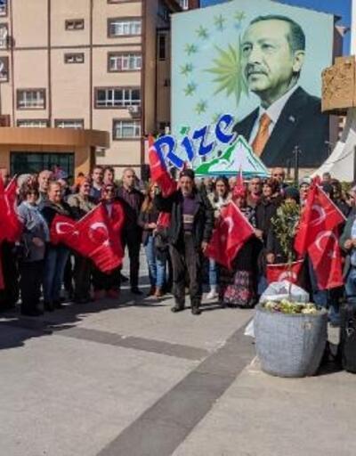 Rize'de, Mehmetçiğe destek