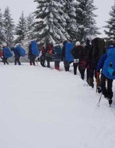 İkizdere'de, Çağrankaya kar yürüyüşü yapıldı