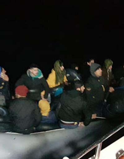 Didim açıklarında yardım isteyen sığınmacılar kurtarıldı