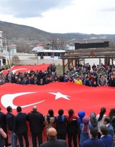Akıncılar'da 'Milli birlik ve beraberlik' yürüyüşü