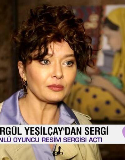 """Afiş, oyuncu Nurgül Yeşilçay'ın """"Avrat Otu"""" sergisini gezdi"""
