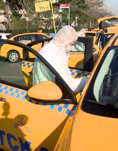 Taksiler böyle dezenfekte ediliyor
