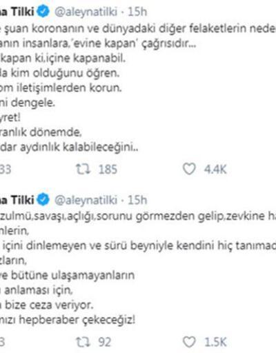 Aleyna Tilki'nin koronavirüs paylaşımı şaşırttı