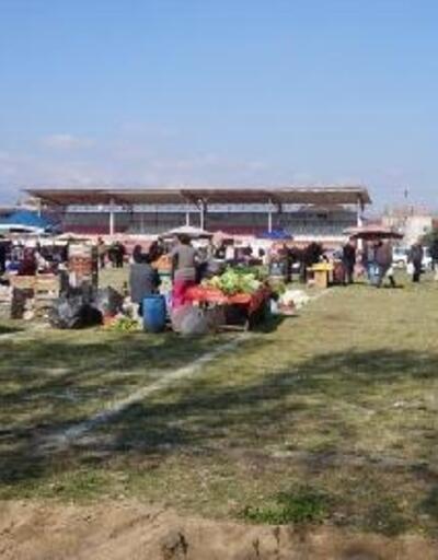 Sarıgöl'de pazaryeri geçici olarak 4 Eylül Stadı'nda kurulacak