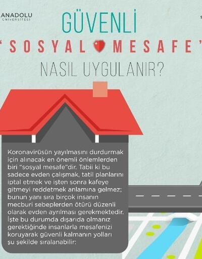 Anadolu Üniversitesi'nden 'sosyal mesafe' uyarısı