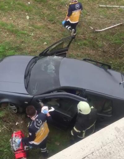 Köprüden düşen otomobilin sürücüsü öldü