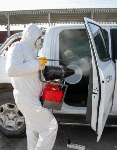 Bodrum'da Belediyesi'nden araçlara ücretsiz dezenfekte hizmeti