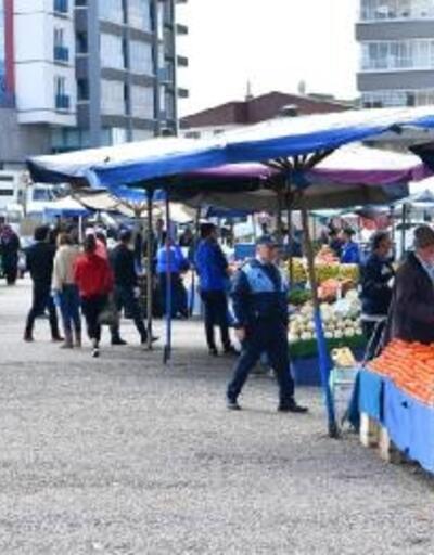 Mamak'ta pazar yerlerine koronavirüs bilgilendirmesi