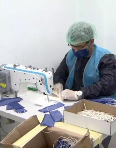 Hükümlülerden maske üretimi