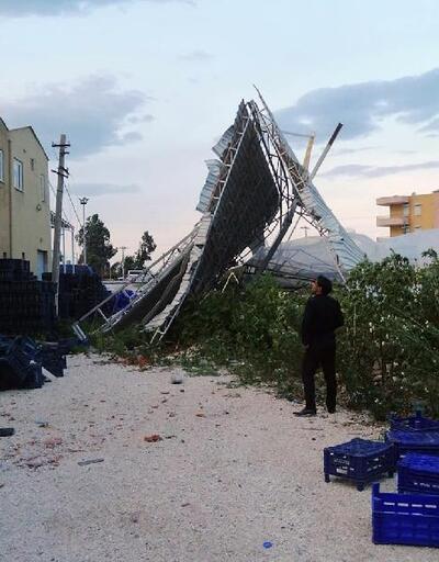 Fırtına nedeniyle 400 dönüm sera zarar gördü