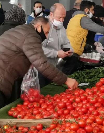 Maskesiz vatandaşlar semt pazarına alınmadı