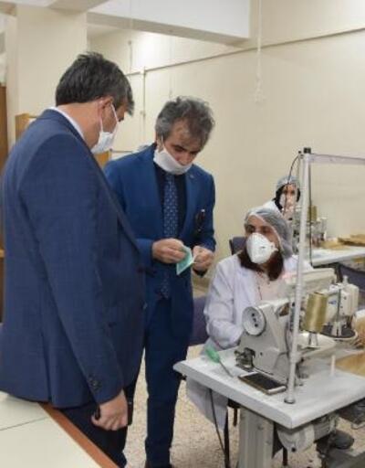 Vali Sezer, maske üretim çalışmalarını inceledi
