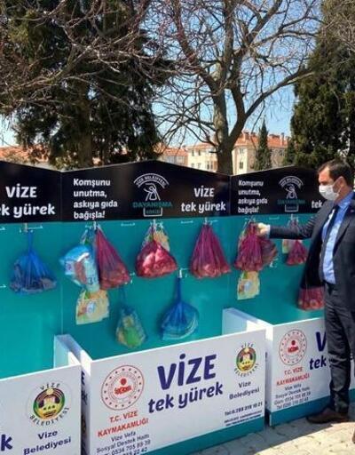 Vize'de, 'Dayanışma Askısı' kampanyası başlatıldı
