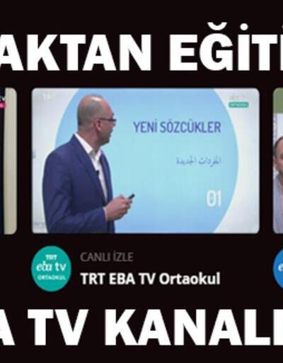 EBA TV ders programı 15 Nisan: TRT EBA TV canlı izle