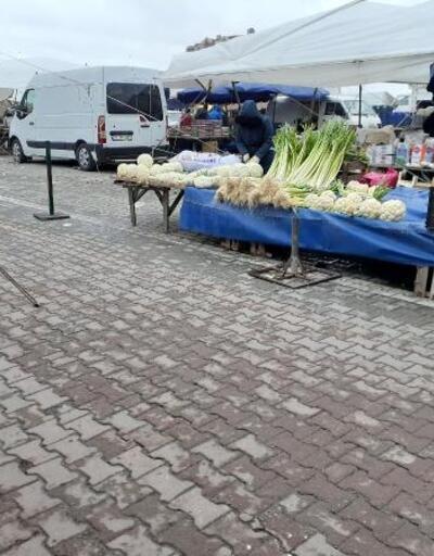 Saray'ın halk pazarında 'koronavirüs' önlemi