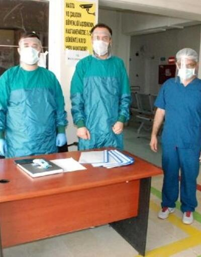 Osmaniye'de lise öğretmenleri ve öğrencilerinden siperlik üretimi