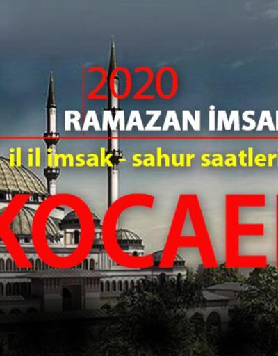 Kocaeli iftar vakti - 2020 imsakiye: 26 Nisan Kocaeli iftar saati kaç?