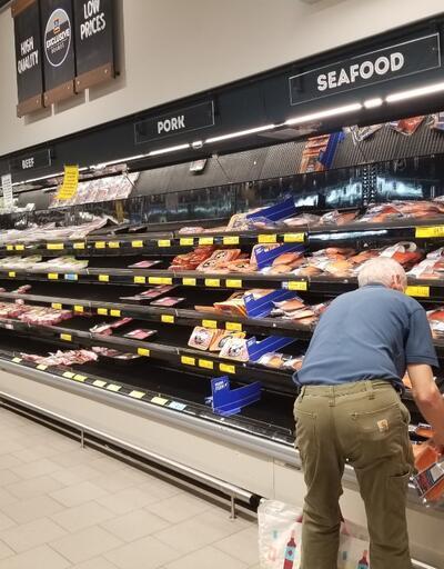 ABD'de kapanan restoranlar nedeniyle halk et reyonlarına akın etti