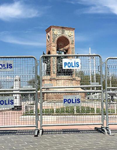 Taksim Meydanı ve Cumhuriyet Anıtı bariyerlerle çevrildi