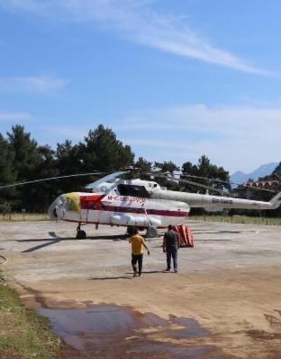 Yangın söndürme helikopteri Marmaris'te konuşlandı