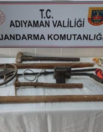 Adıyaman'da izinsiz kazı yapan 2 kişi gözaltına alındı